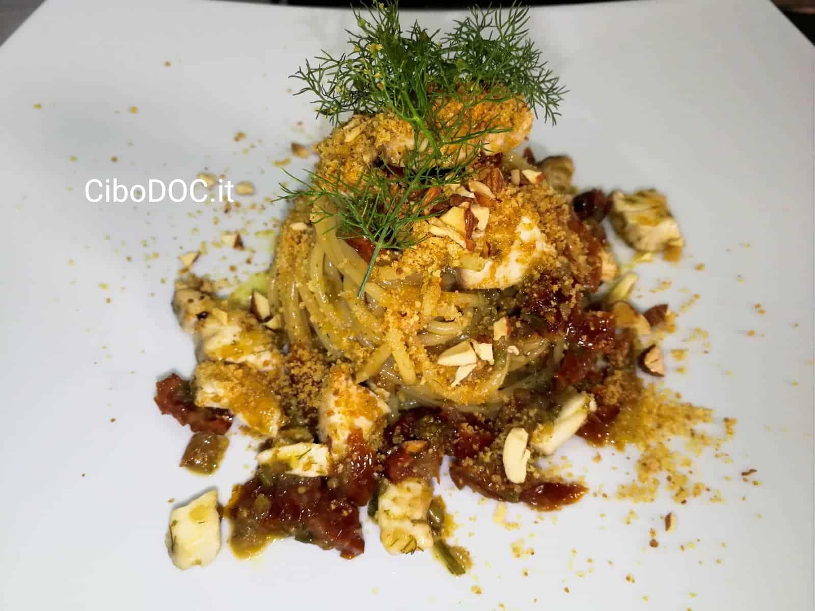 spaghetti con capone alla siciliana