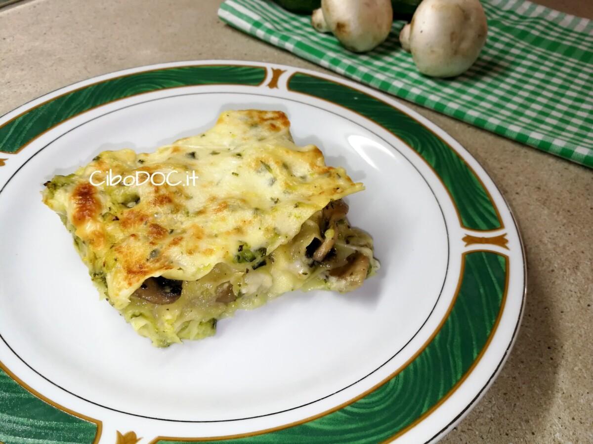 lasagne con zucchine e funghi